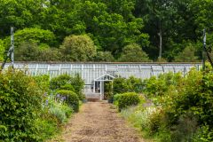 The walled garden and restored glasshouse
