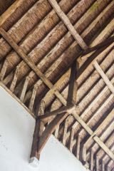 A view of the timber roof