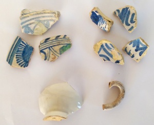 Tin-glazed ceramics from the Tune Hotel Liverpool Street site