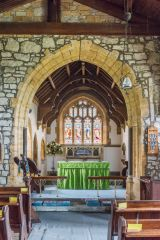 The 14th century chancel arch