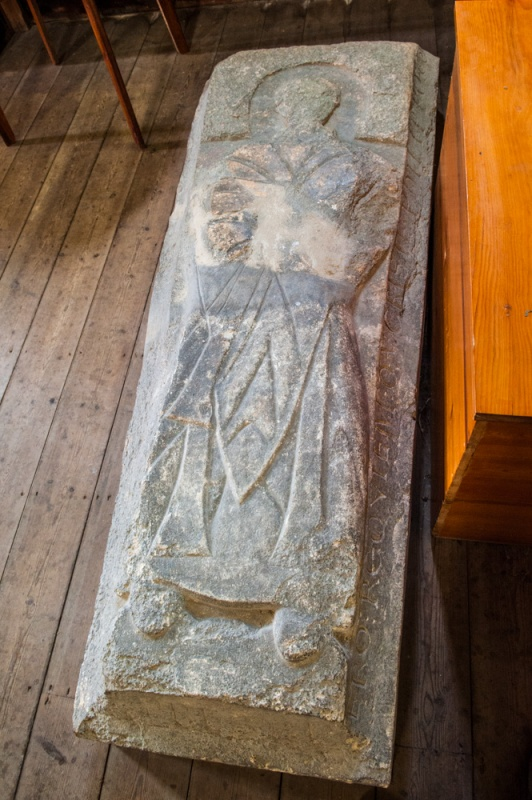 12th century effigy of Philip the priest