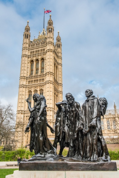 The Burghers of Calais in Victoria Tower Gardens