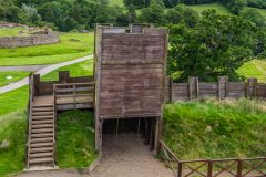Recreation of a timber watch tower at Vindolanda