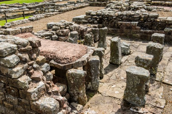 Vindolanda Roman Fort photo, The military bath house, c. AD 213