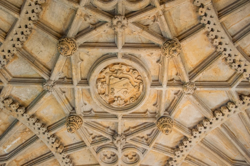 Wadham College gatehouse ceiling vaulting