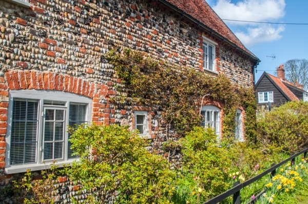 A traditional stone cottage in Walberswick, Suffolk