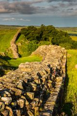 Hadrian's Wall at Walltown, looking west