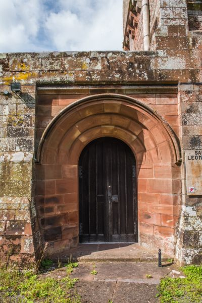 Warwick on Eden, St Leonard's Church photo, The Romanesque south doorway