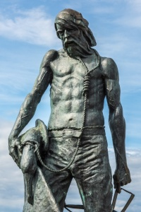 The Ancient Mariner statue on the Esplanade