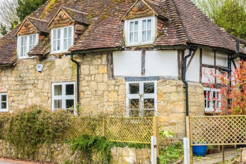 A typically pretty timber-framed cottage in West Chiltington