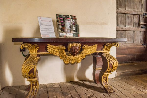 West Harling, All Saints Church photo, The ornately gilded mahogany table
