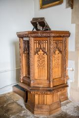 West Tytherley, St Peter's Church, The finely carved 19th century pulpit