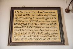 West Tytherley, St Peter's Church, 1813 dedication board