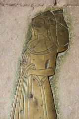 West Tytherley, St Peter's Church, 1480 brass of Anna Whitehead