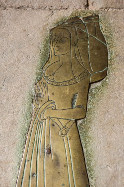 West Tytherley, St Peter's Church photo, 1480 brass of Anna Whitehead