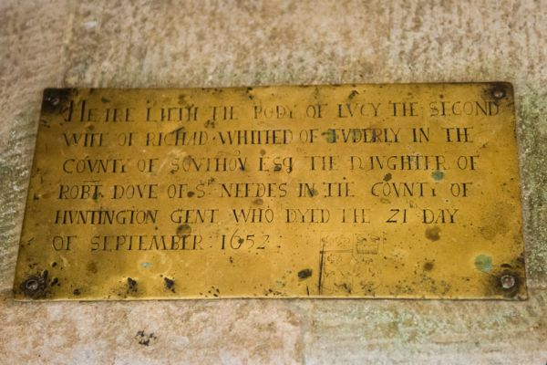 West Tytherley, St Peter's Church photo, Brass of Lucy Whitehead, d. 1652
