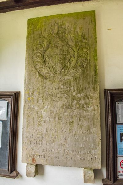 West Tytherley, St Peter's Church photo, Anna Whitehead memorial, 1688