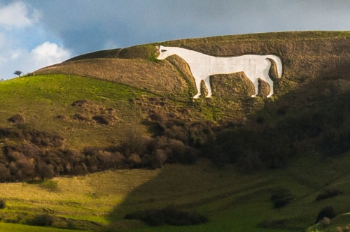 Westbury White Horse from the B3098