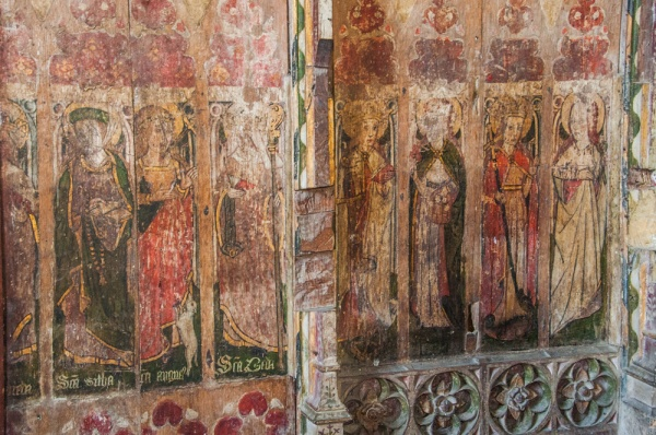 Base of the 15th century painted screen