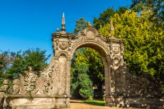 Ornate gateway to the Italianate Walled Garden
