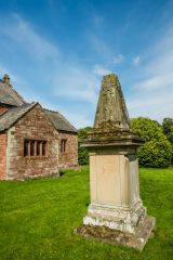Wetheral, Holy Trinity & St Constantine Church, A 19th century monument in the south churchyard