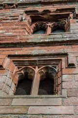 Wetheral Priory Gatehouse, Gothic windows over the archway