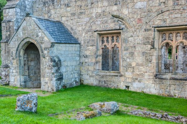 Wharram Percy Deserted Medieval Village photo, The churchyard and south porch