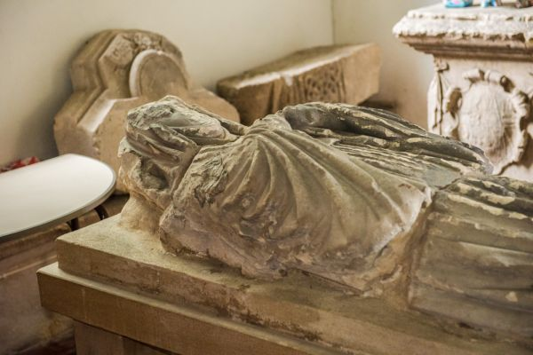 Wherwell, St Peter & Holy Cross Church photo, The Abbess Euphemia effigy, 1226