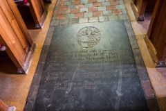 Wherwell, St Peter & Holy Cross Church, 18th century grave slab of Mary West