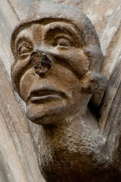 Whissendine, St Andrews Church photo, Carved head, nave arcade