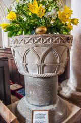 Whitchurch Canonicorum, St Candida & Holy Cross Church, The 12th century font