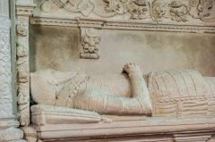 Whitchurch Canonicorum, St Candida & Holy Cross Church, Effigy of Sir John Jeffrey