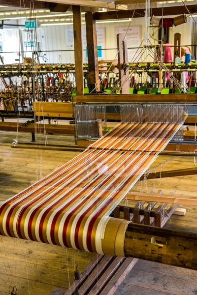 Whitchurch Silk Mill photo, Silk on the loom