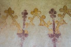 Medieval painting on the north nave wall