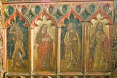 The late medieval screen base