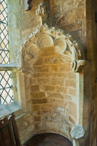 Canopied niche in the chancel