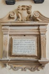 Wilton, St Mary's Church, Edmund sweeper memorial, 1677