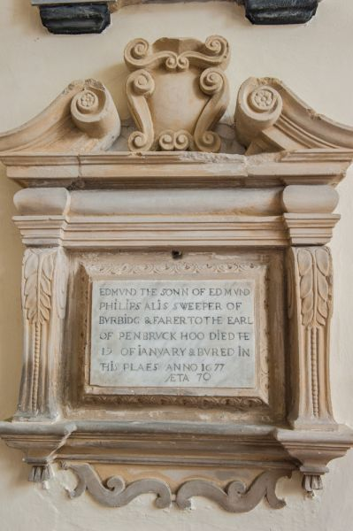 Wilton, St Mary's Church photo, Edmund sweeper memorial, 1677