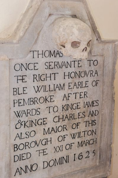 Wilton, St Mary's Church photo, Thomas Mell memorial, 1625