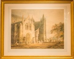 The North Porch of Salisbury Cathedral, by JMW Turner, 1797