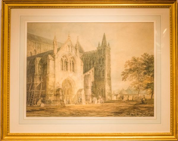 Salisbury Museum photo, The North Porch of Salisbury Cathedral, by JMW Turner, 1797