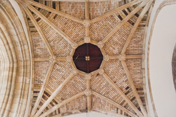 Wimborne Minster Church photo, Ornate vaulting under the tower