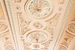 Ornate plasterwork ceilings in the Hall