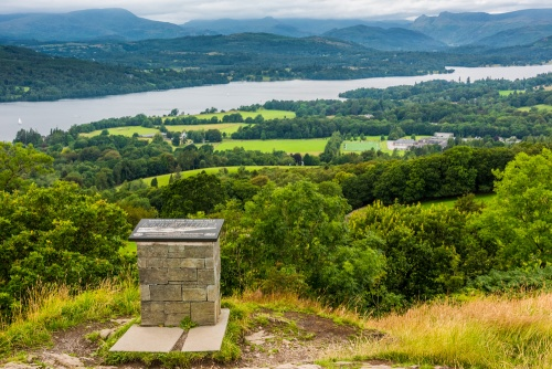 Lake Windermere from Orest Head, Windermere village