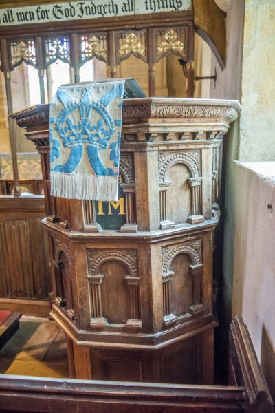 Winterborne Came, St Peter's Church photo, The Jacobean pulpit