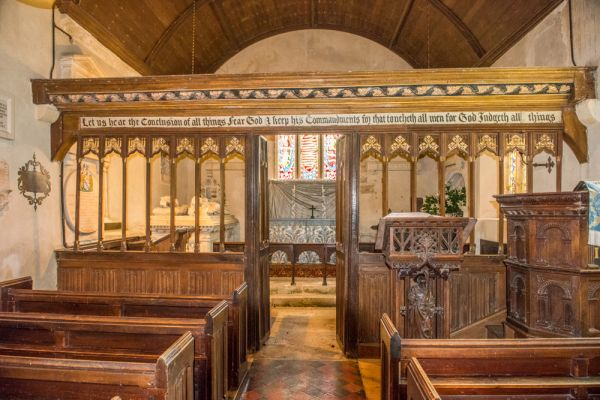 Winterborne Came, St Peter's Church photo, The beautifully carved chancel screen