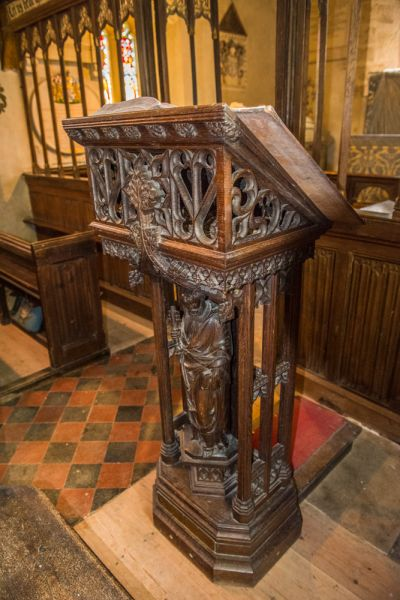 Winterborne Came, St Peter's Church photo, The ornately carved lectern