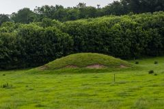 A small burial mound on the north-east of the site