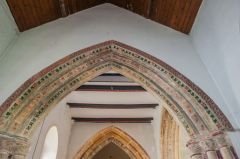 The stencilled chancel arch