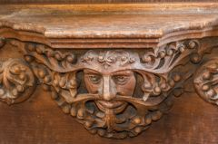 A Green Man misericord